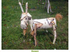 декор сада деревянный козел