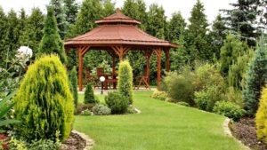 принцип баланса в планировании сада