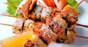 шашлык-ассорти из рыбы